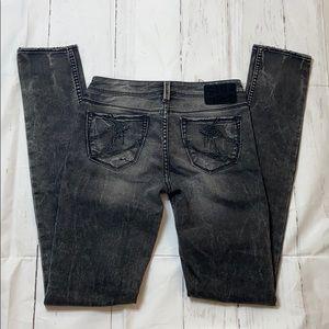 Silver Skinny Jeans size 24